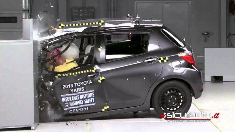 2013 Toyota Yaris Small Overlap Crash Test